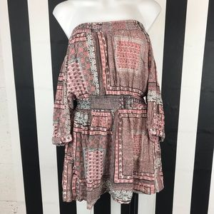 5 for $25 Fun & Flirt Paisley Off Shoulder Dress